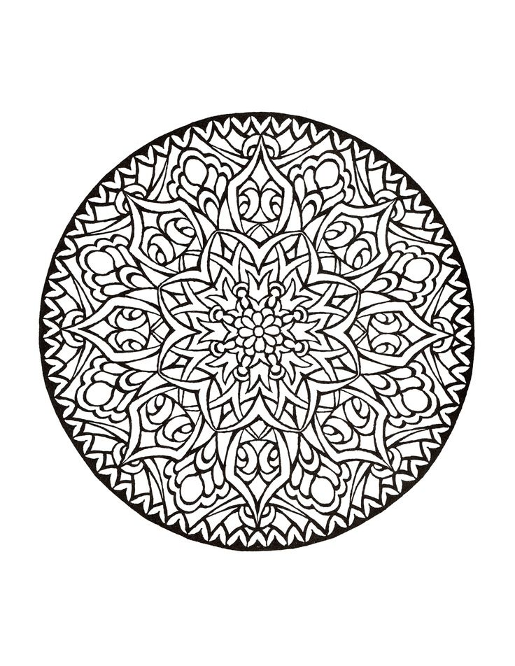 From The Mystical Mandala Coloring Book Doodling Mandala