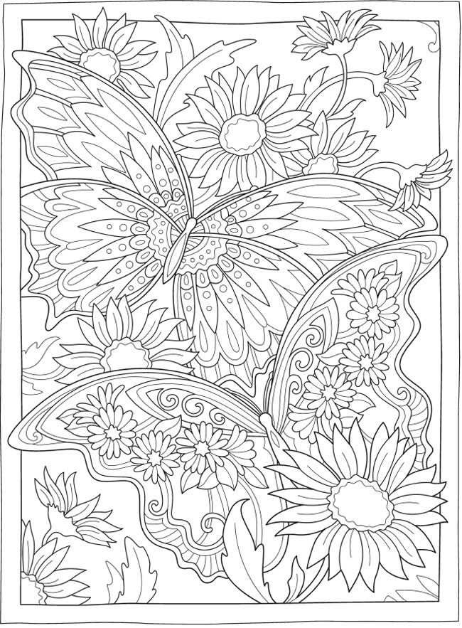Welcome To Dover Publications In 2021 Mandala Coloring Pages, Butterfly  Coloring Page, Detailed Coloring Pages