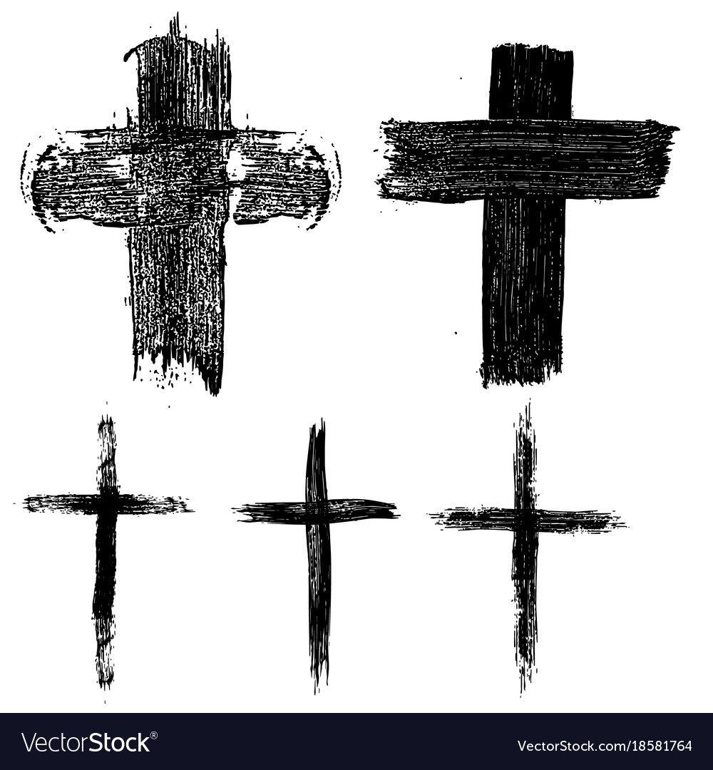 Set of hand drawn crosses religious symbols design element for religious symbols biocorpaavc