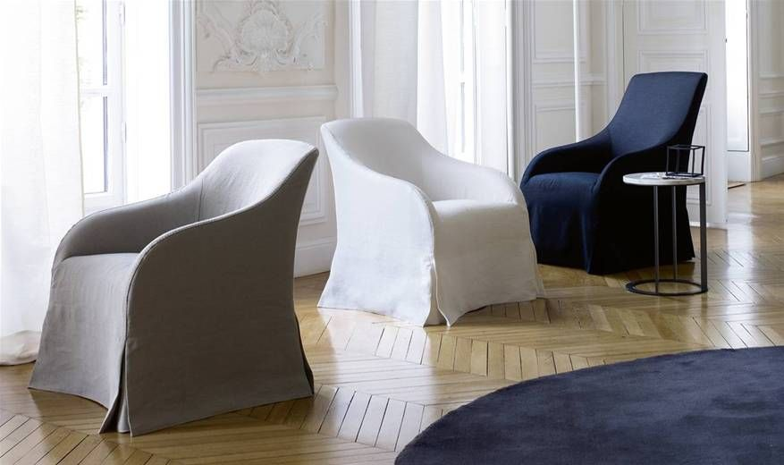 Belgian/French meets modern! Agathos armchair at B&B Italia designed by Antonio Citterio. Maxalto collection, 2011.