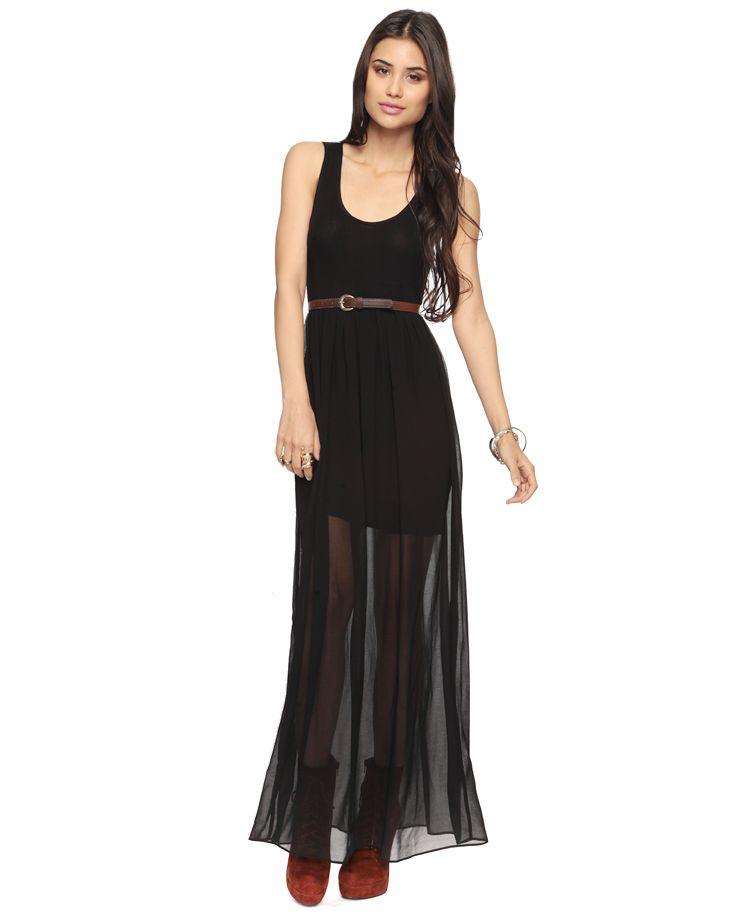 d0d00799bd2  19.80 Forever 21 Knit Maxi Dress. I love the sheer bottom!