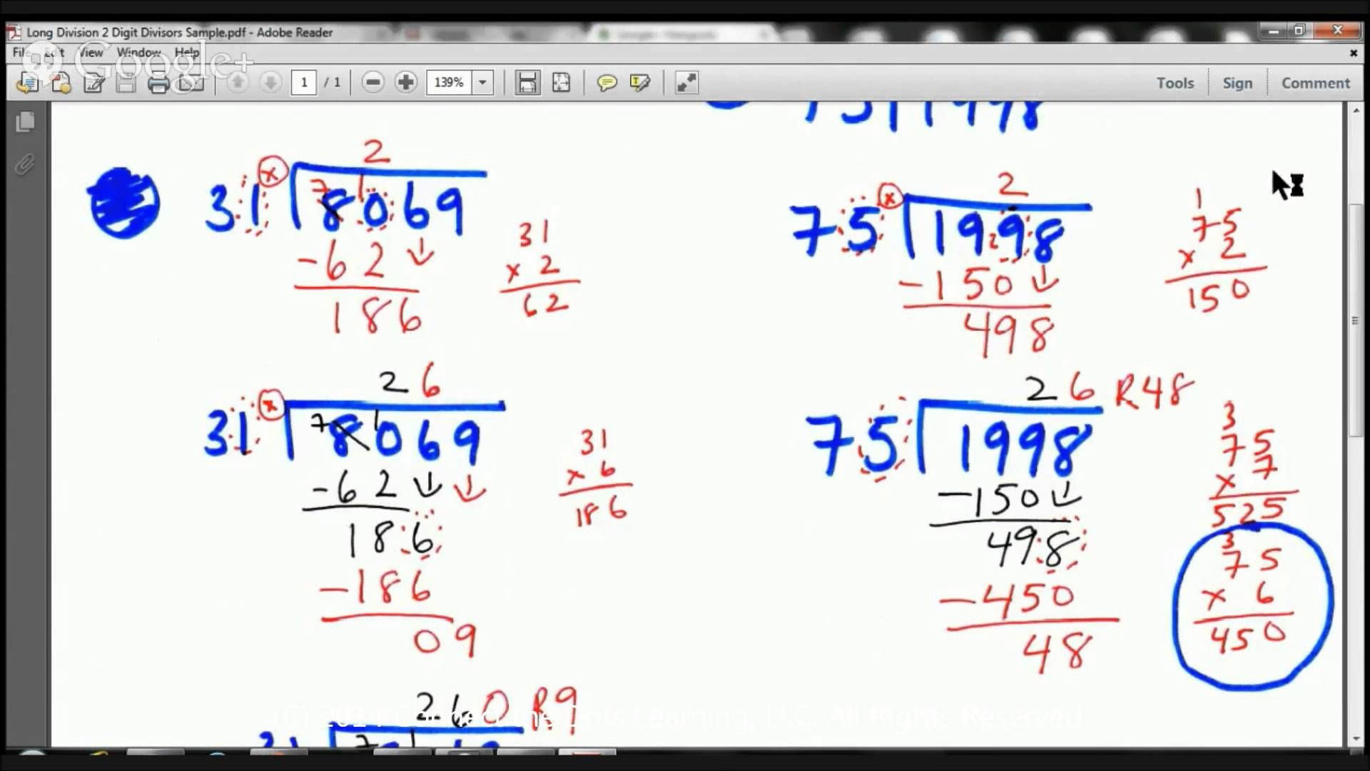 5th Grade Long Division With 2 Digit Divisors Lesson