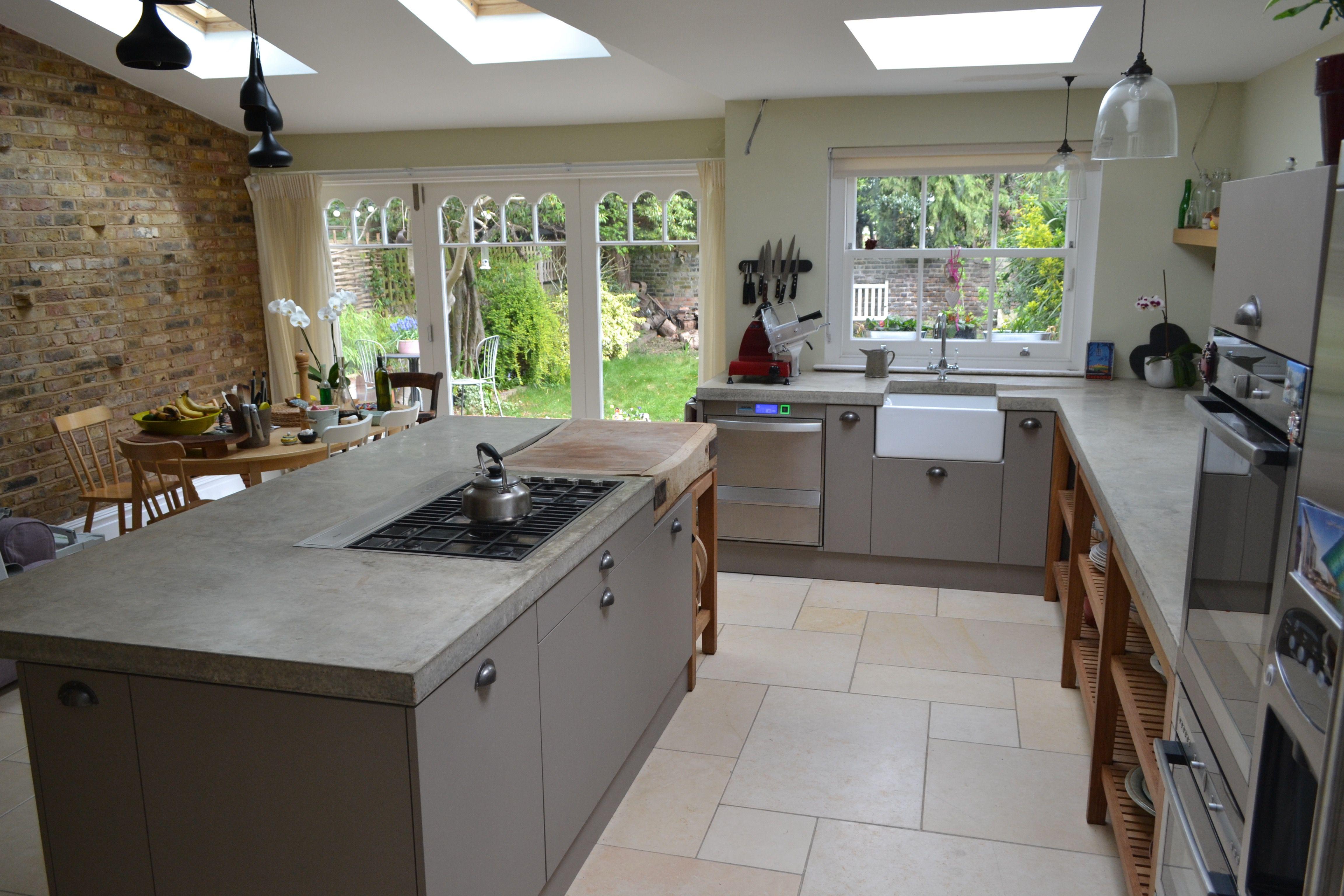 Seamless polished concrete worktops cast in situ london - Cocinas bonitas ...