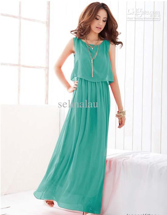 Long Summer Chiffon Dresses