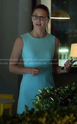 Kara S Aqua Blue Sleeveless Dress On Supergirl Outfit