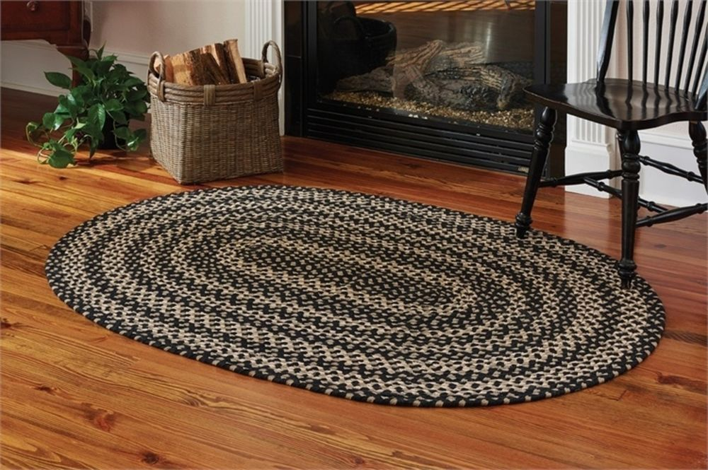 Country Braided Oval Area Rug 48 X 72 Reversible Vibrant Colors Thicker Padding Parkdesigns Country Oval Rugs Oval Braided Rugs Braided Rugs