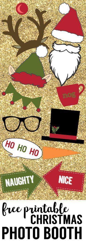 Free Christmas Photo Booth Props Printable Holidays Christmas