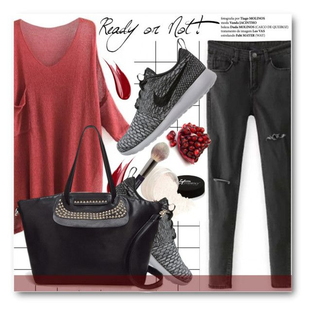 """""""Ready or not!"""" by stylemoi-offical ❤ liked on Polyvore featuring Forum, It Cosmetics, Hourglass Cosmetics, NIKE and stylemoi"""
