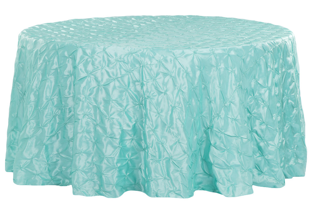 120 Pinchwheel Round Tablecloth Turquoise Round Tablecloth
