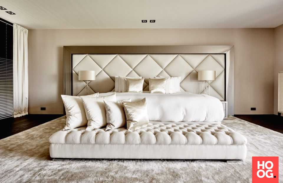 Exclusief slaapkamer design met luxe verlichting slaapkamer design
