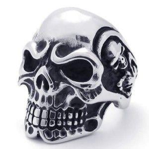 Women Men Knuckle Ring Skull Skeleton Bones Antique Silver Fashion Dragon 8.5