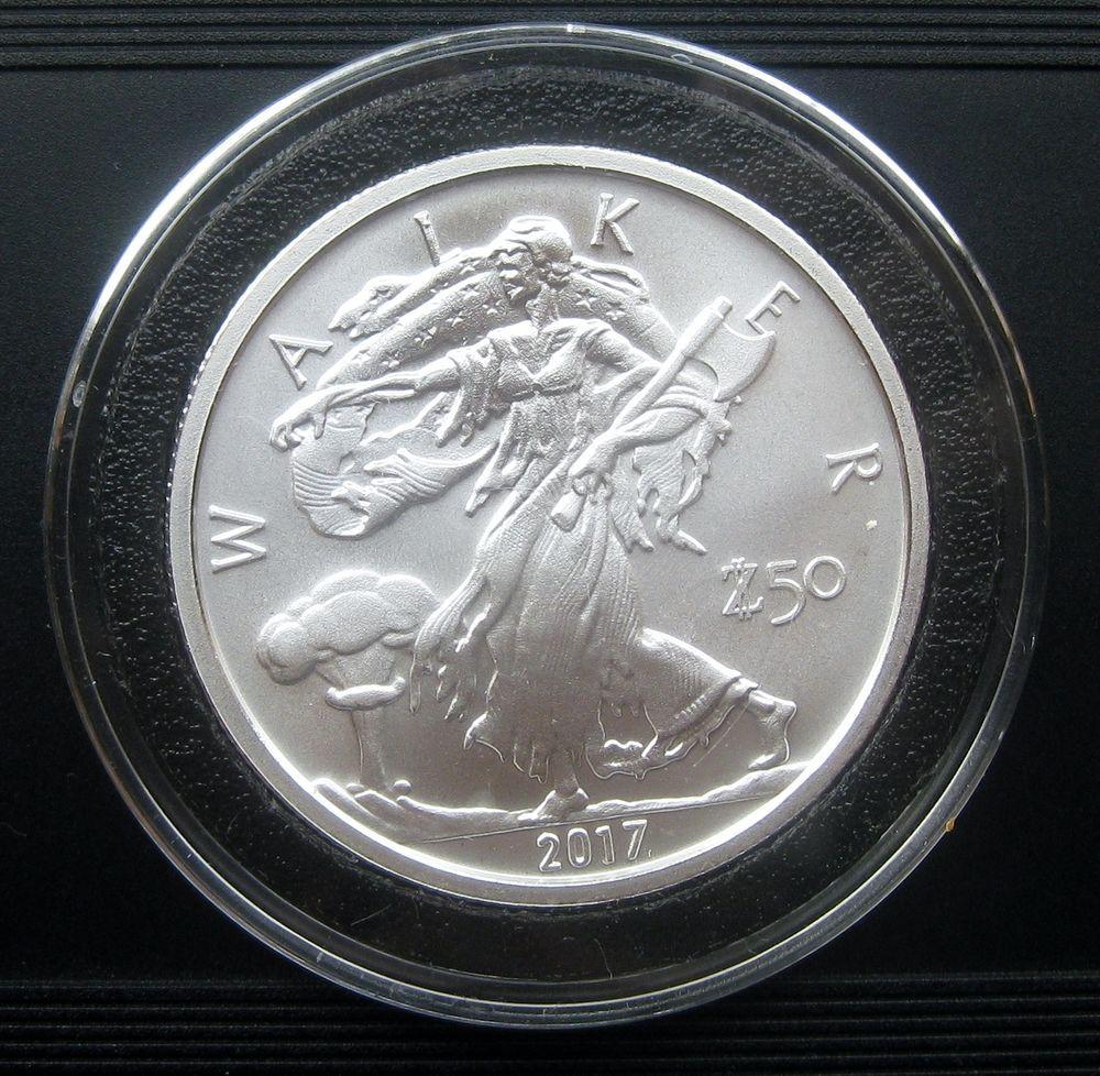 2017 Walker Walking Liberty 1 Oz 999 Fine Silver Zombucks G51 Silver Bullion Fine Silver Silver Bullion Coins