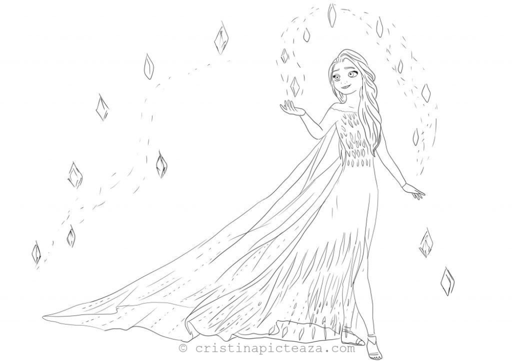 Coloring Pages With Elsa In White Dress Frozen 2 Cristina Is Painting Elsa Coloring Pages Frozen Coloring Frozen Coloring Pages