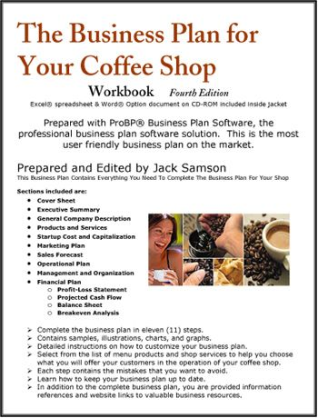 The Business Plan for Your Coffee Shop Start Your Own Cafe - bar business plan