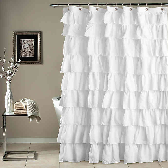 Ruffle Shower Curtain Ruffle Shower Curtains White Ruffle
