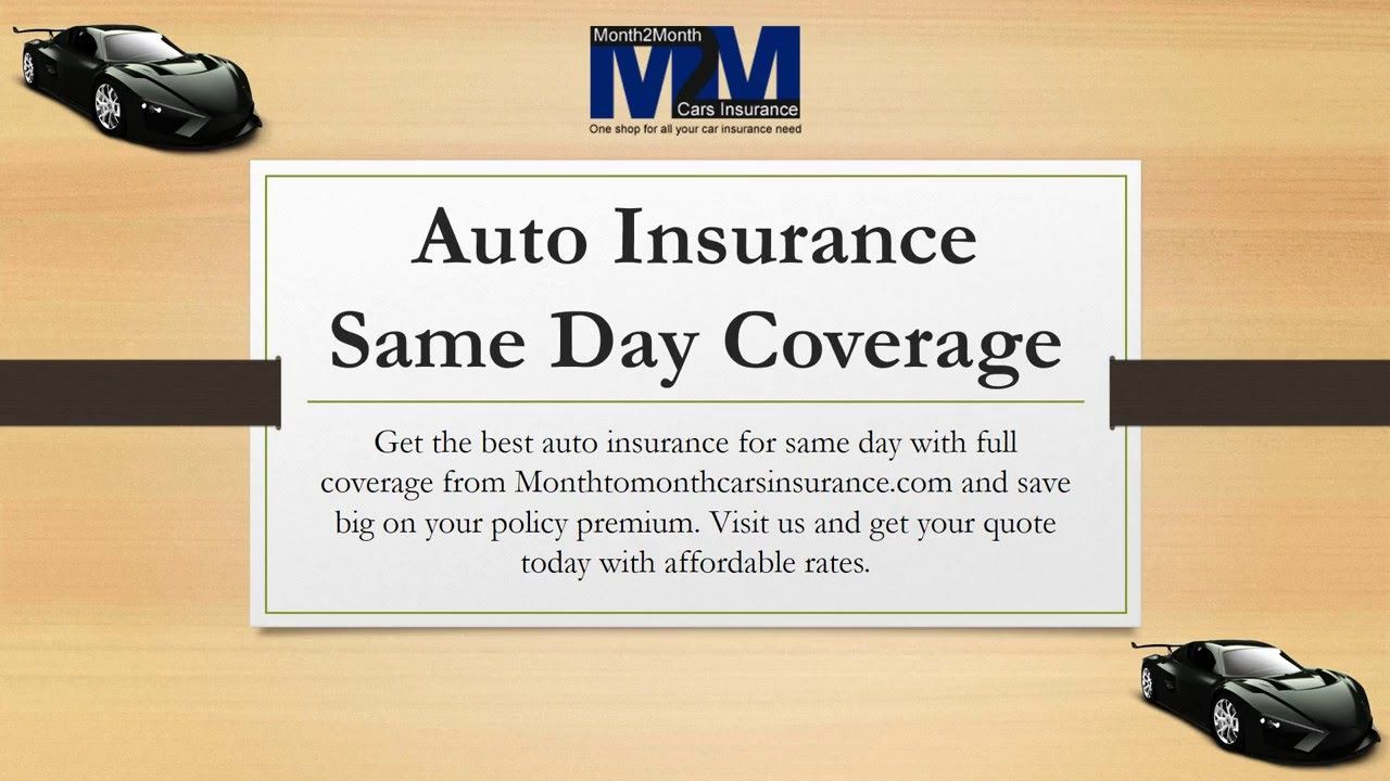 Can I Get Affordable Same Day Car Insurance Coverage Online Car