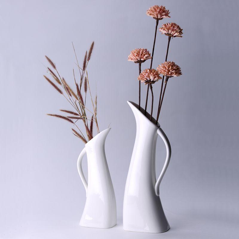 Minimalist Tall Abstract Peacock Vases Floor Vase Large Vase - Ceramic tall floor vases