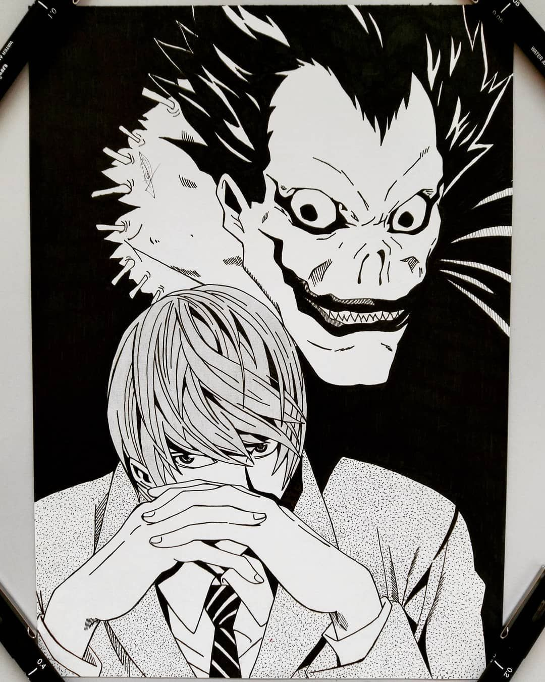 Deathnote Lightyagami Ryuk Ilustration Lineart Draws Theanimeigfeature Allartsharing Animeartcollective Anime Sketches25 In 2020 Sketches Drawings Death Note