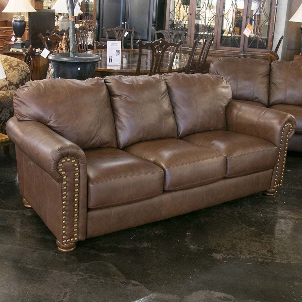 Since 1923 Leather Sofa Decor Red Leather Sofa Brown Leather Studded Couch
