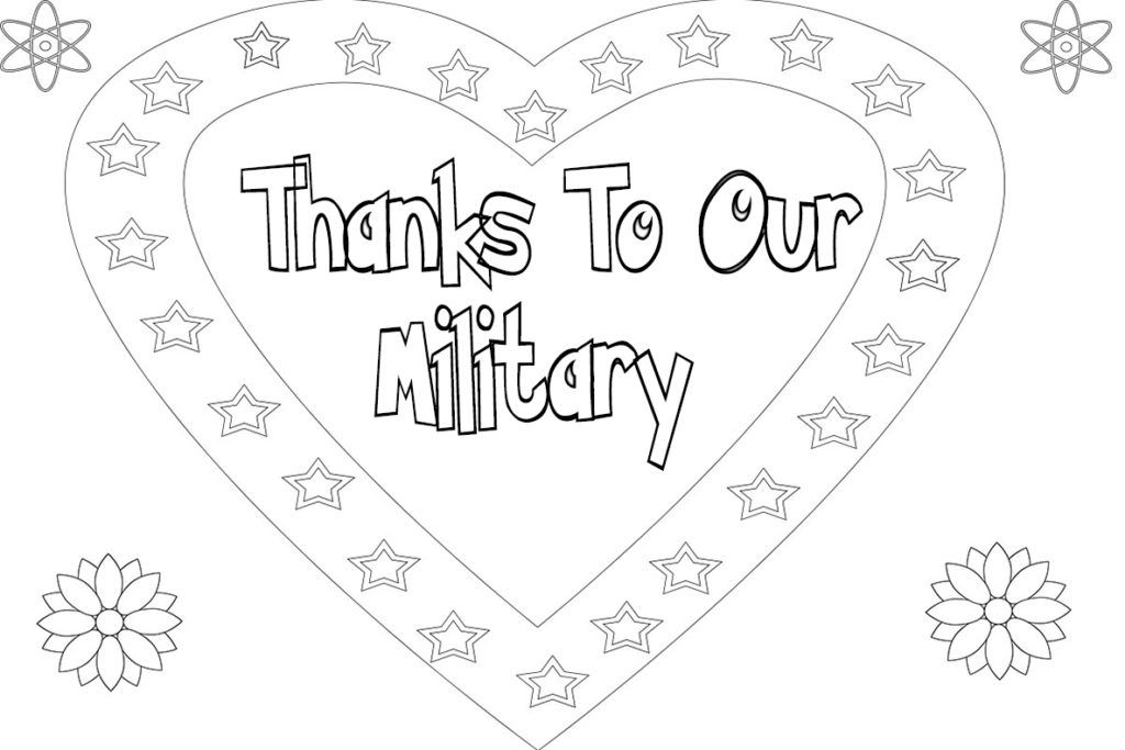 Military Thank You Coloring Pages | Coloring pages ...