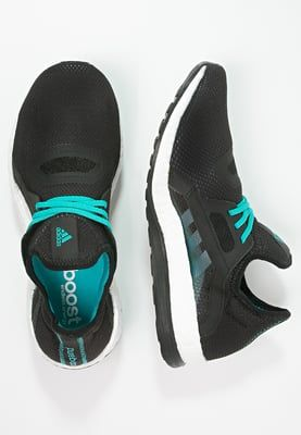 online store 3a380 9facf adidas Performance PUREBOOST X - Trainers - core black shock green for  £71.99 (21 05 16) with free delivery at Zalando