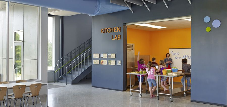 Kitchen Lab Kids can smarter school designs inspire students to become more active
