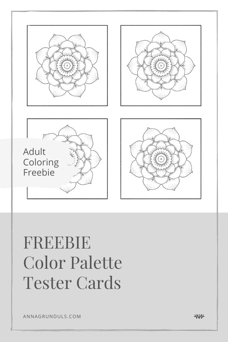 Color Palette Sample Cards Free Printable Adult Coloring