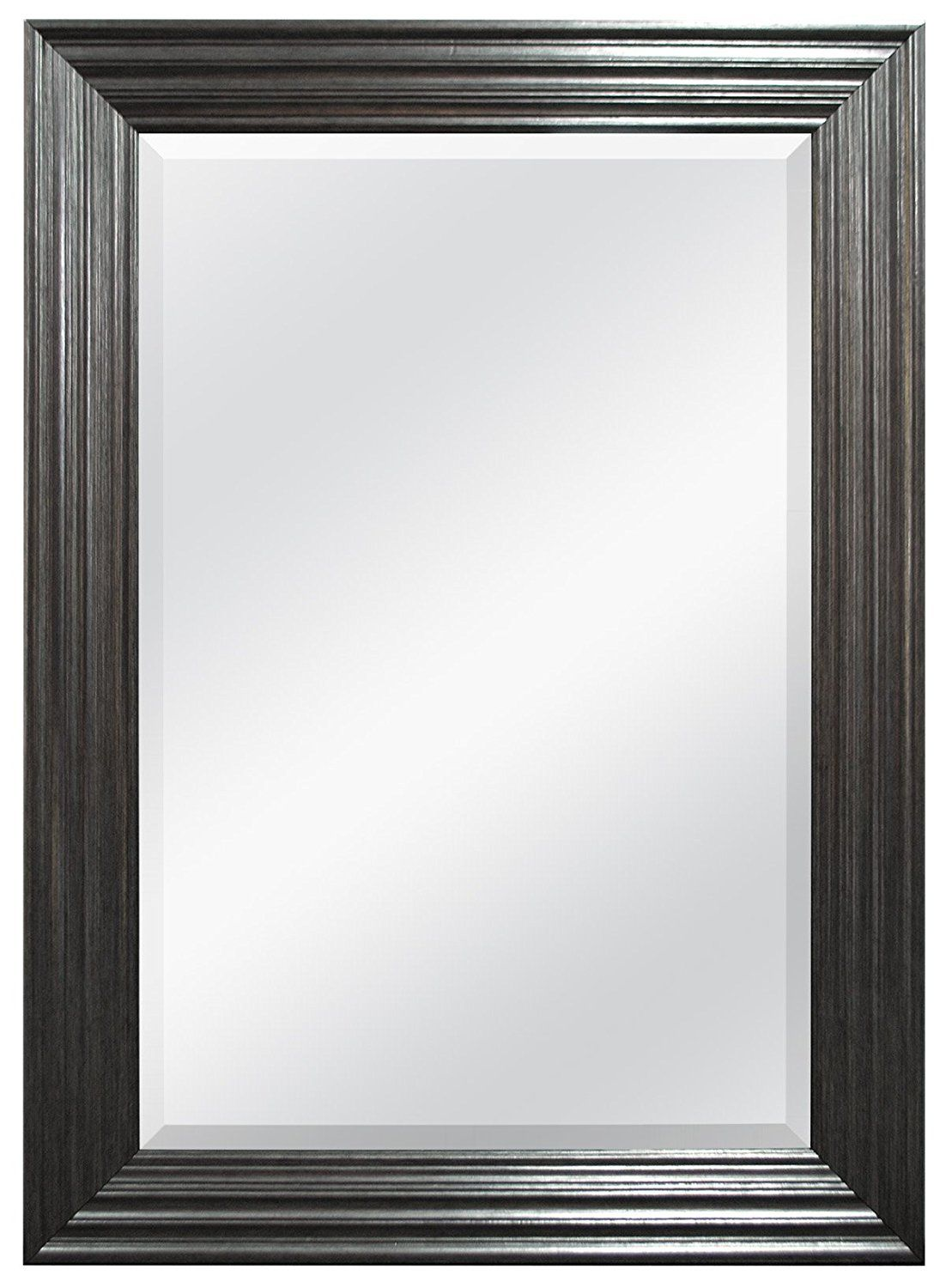 Mcs 24 By 36 Inch Beveled Mirror 32 By 44 Inch Pewter Ridged Finish For More Information Visit Image Link This Is An Affiliate Link Mirror Beveled Mirror