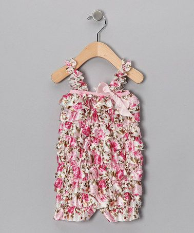 This is just precious!!!  Take a look at this Pink Floral Ruffle Romper - Infant & Toddler by Sue Berk Designs on #zulily today!