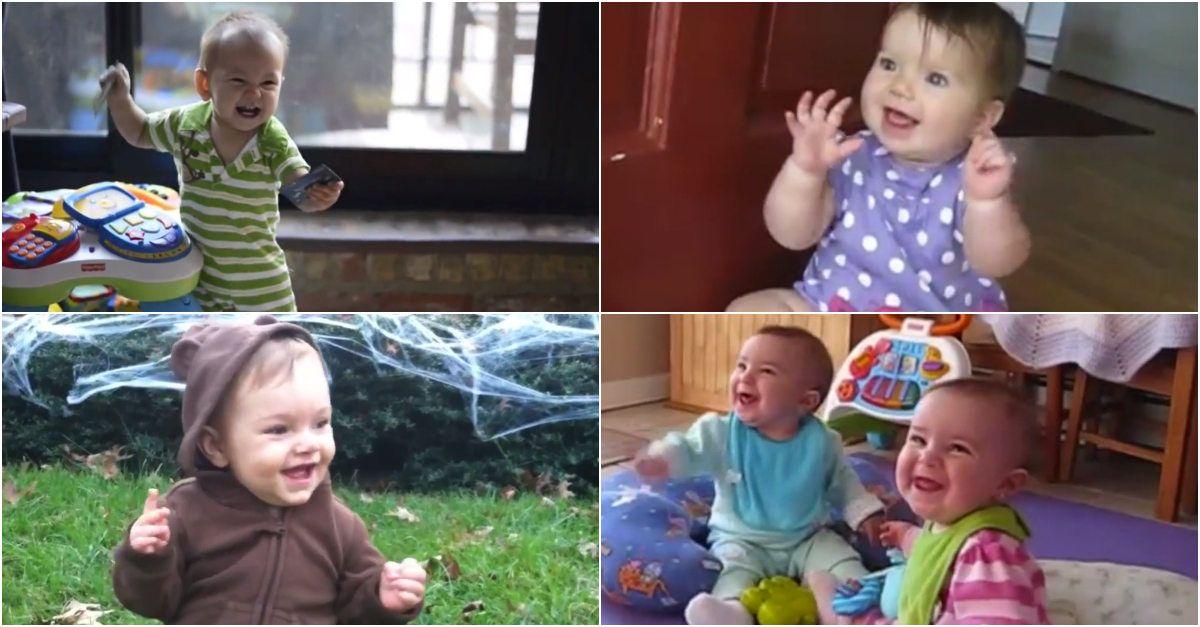 A reação entusiasmante dos bebés quando os pais chegam a casa