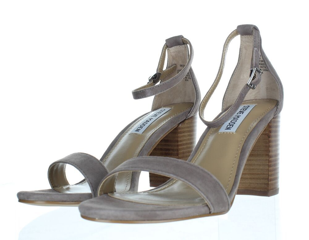 a7ca276101a 921 NEW Steve Madden Declair Grey Multi Ankle Strap Sandals Women's ...