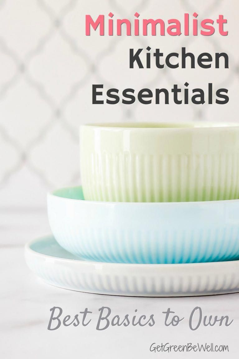 Small kitchen? Or just starting out in a college dorm or apartment? These are the best basics that you need for a fully functioning kitchen that takes up little space. #minimalism #minimalist #downsizing #kitchen #apartment #apartmenttherapy #apartmentideas #apartmentliving #HomeEssentialsDecor