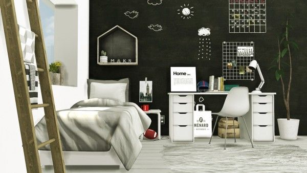 MXIMS Scandinavian Style Boys Room  Sims 4 Downloads