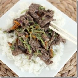 chinese beef with broc (gluten free) - from jenn's menu and lifestyle blog