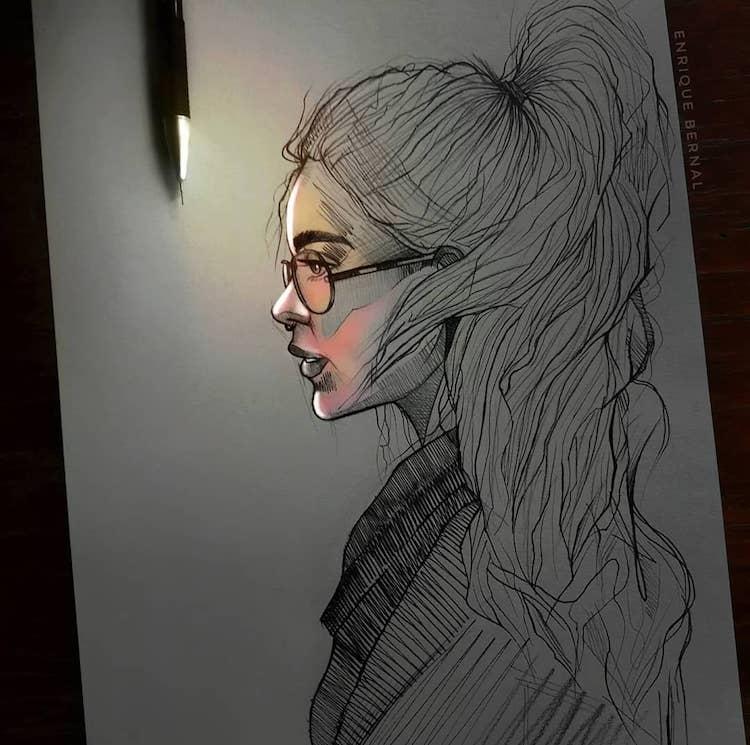 Siyayushie Babochki Enrike Bernala In 2020 Beautiful Pencil Drawings Pencil Drawings Cool Art Drawings
