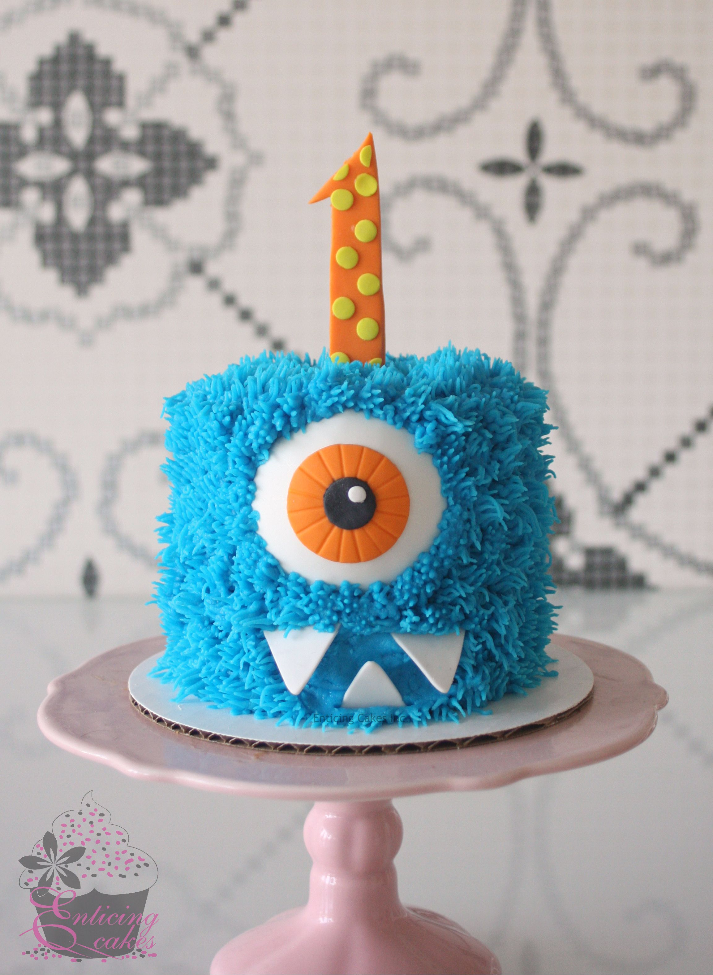 Little Monster Smash Cake Monster Birthday Cakes Monster