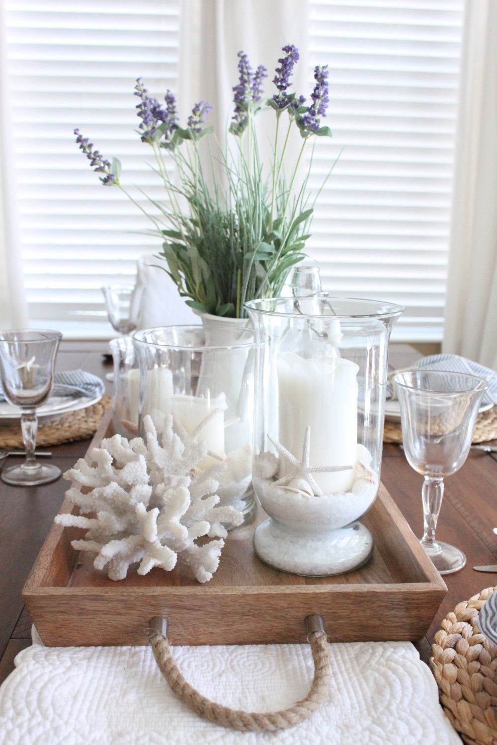 Lavender In The Kitchen Dining Room Table Centerpieces