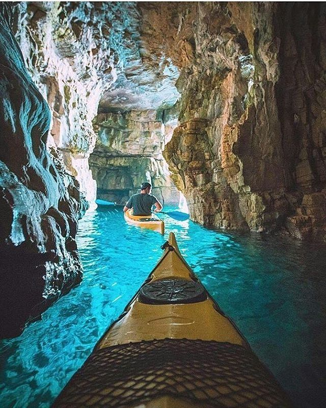Kayaking Through The Blue Caves⛵ Photo By @erubes1
