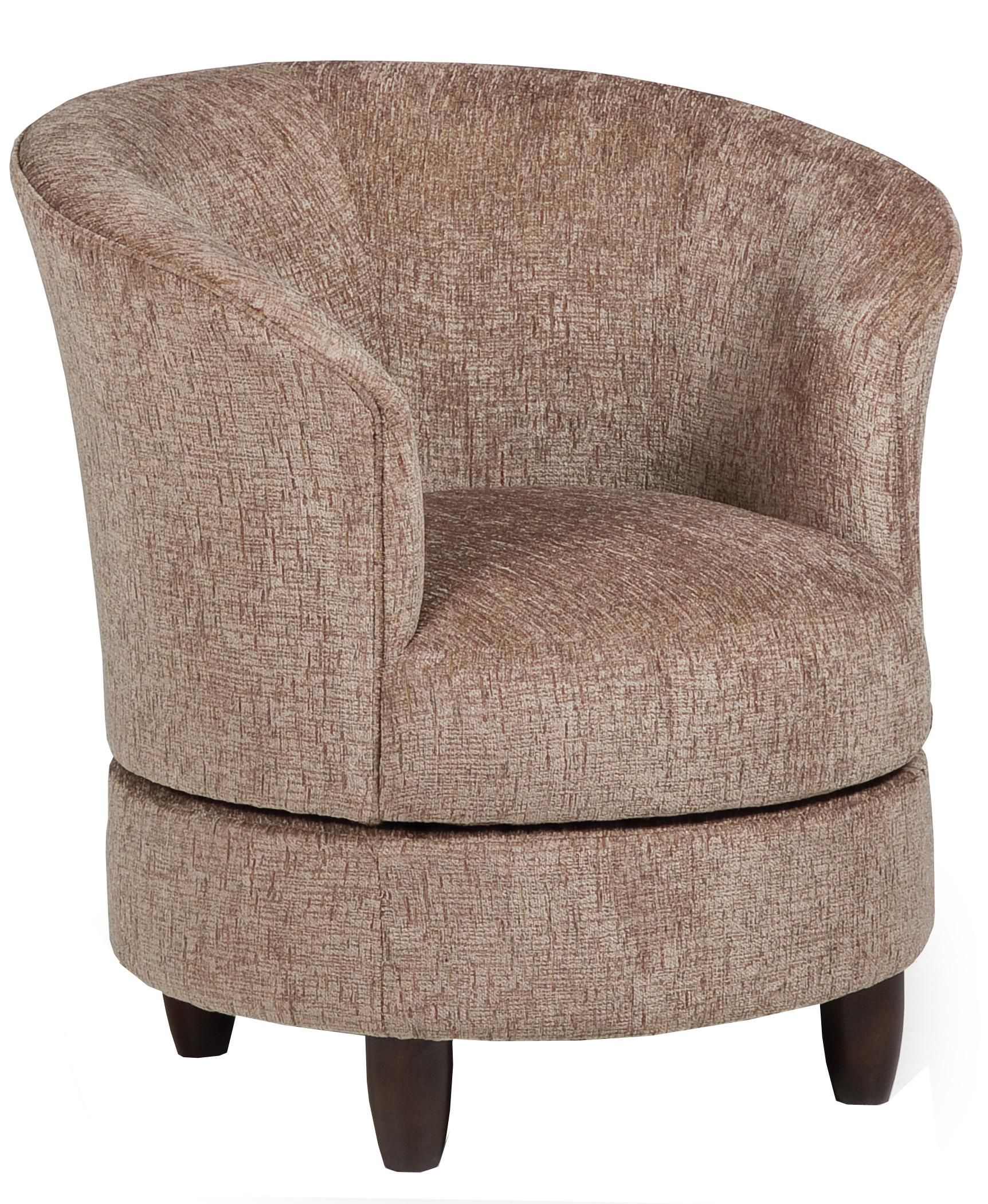 Accent Chairs Swivel Barrel Chair By
