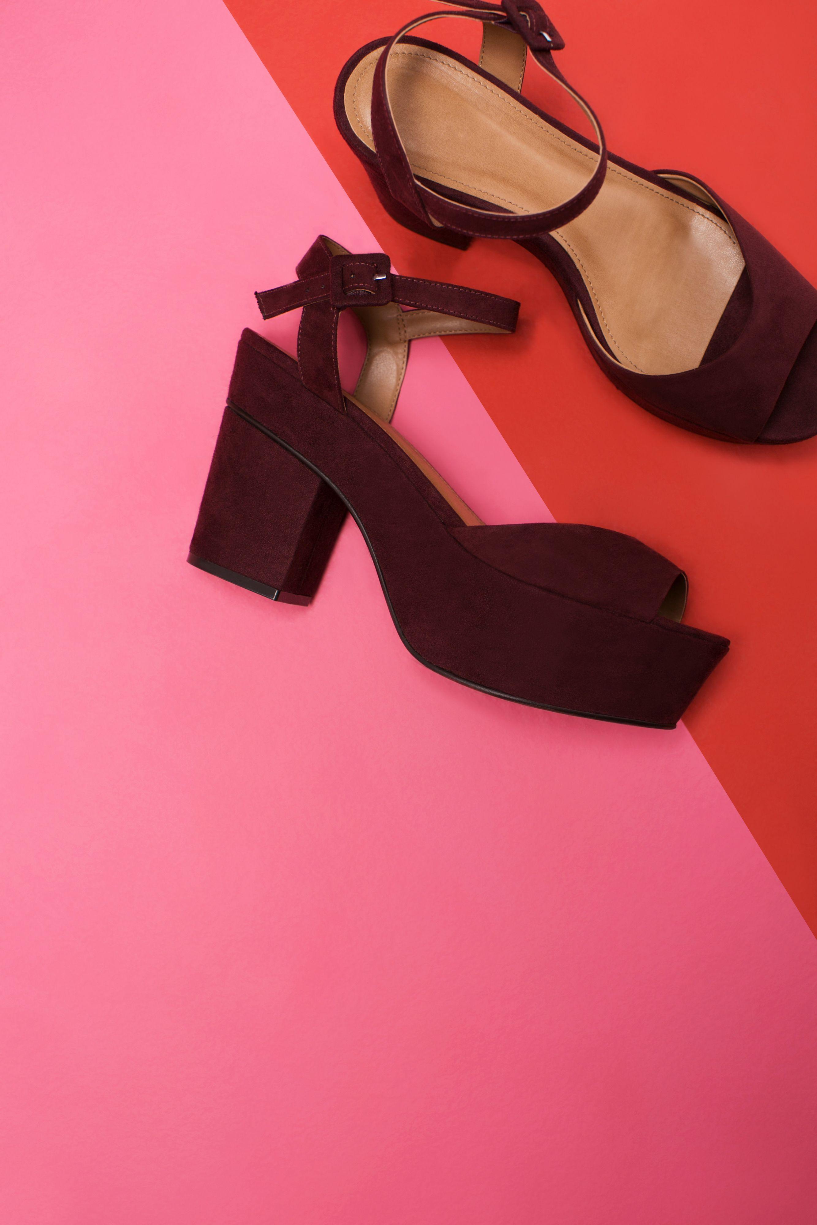 b88727eb2 Sandália feminina meia pata cor vinho | sapatos | Sapatos, Sandálias ...