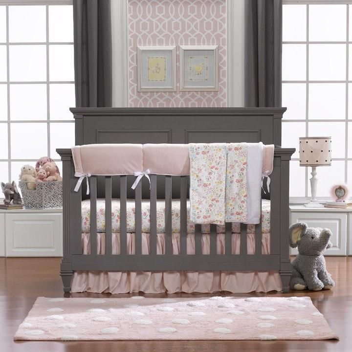 Petal Pink Linens Bumperless Crib Bedding Pink Bedding