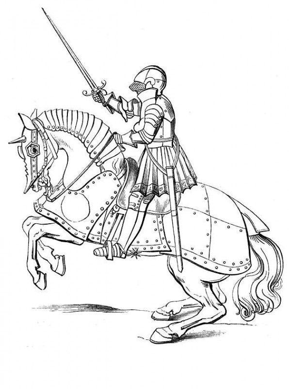 Kleurplaten Ridders Kastelen.Kleurplaat Van Ridders 11 Ridders En Kastelen Dibujos Medievales