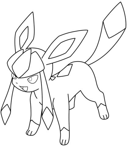Glaceon Pokemon Coloring Page Pokemon Ausmalbilder Ausmalbilder Pokemon