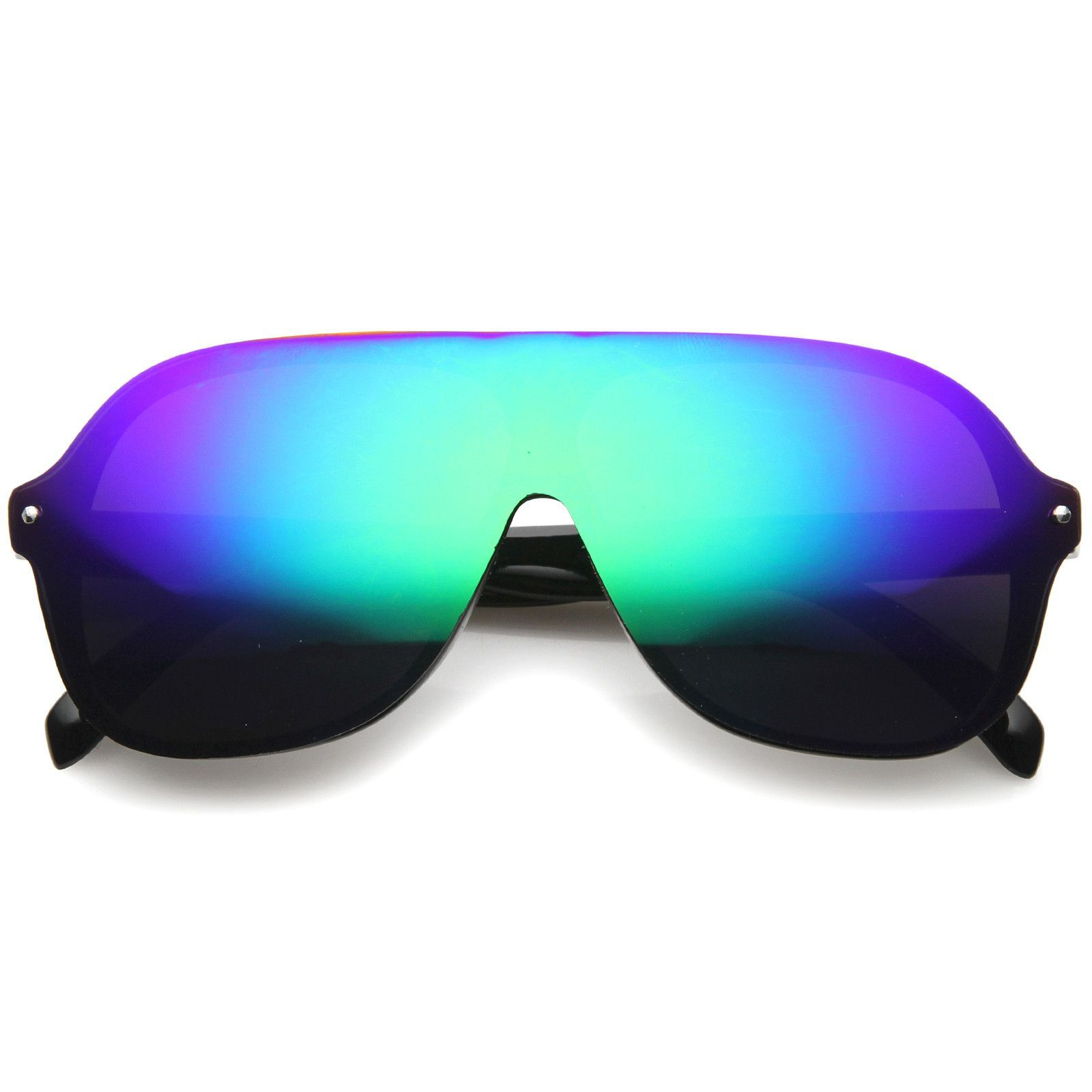 8f4bb1bf942 Mens Rimless Sunglasses With UV400 Protected Mirrored Lens