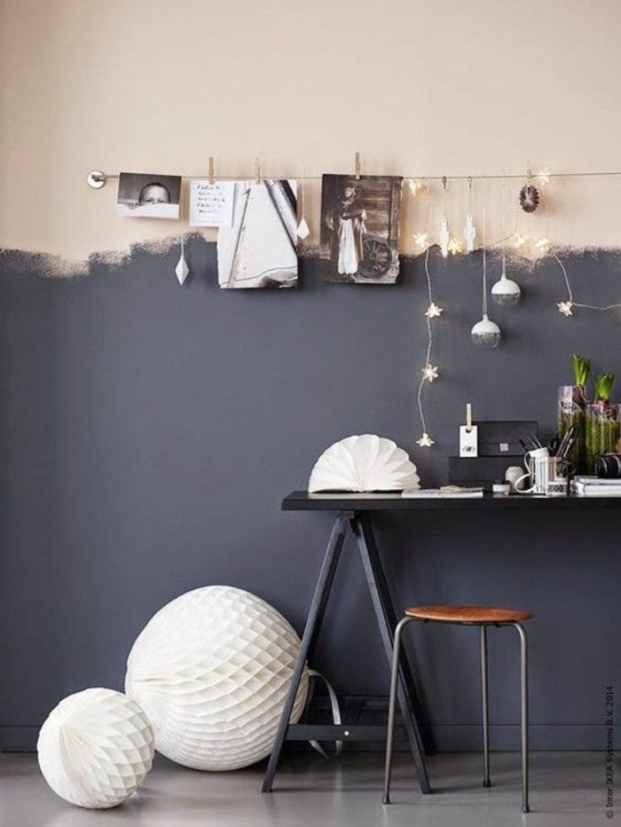 0 Joli Mur Double Couleur Gris Rose Peinture Glycéro Repeindre Un Mur  Decoration Murale