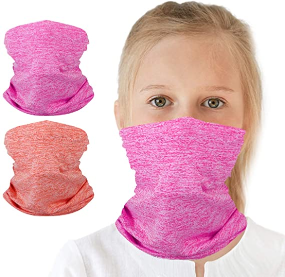 6-14 Years Kids Cooling Neck Gaiter Scarf Anstronic 12-Pack Breathable Bandana Face Bandana Cover for Boys Girls