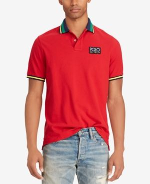 6d629189462b Polo Ralph Lauren Men s Hi Tech Mesh Cotton Classic Fit Polo - Red ...