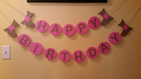 Happy Birthday Cow girl with boots Happy by IttyBittyBoutik