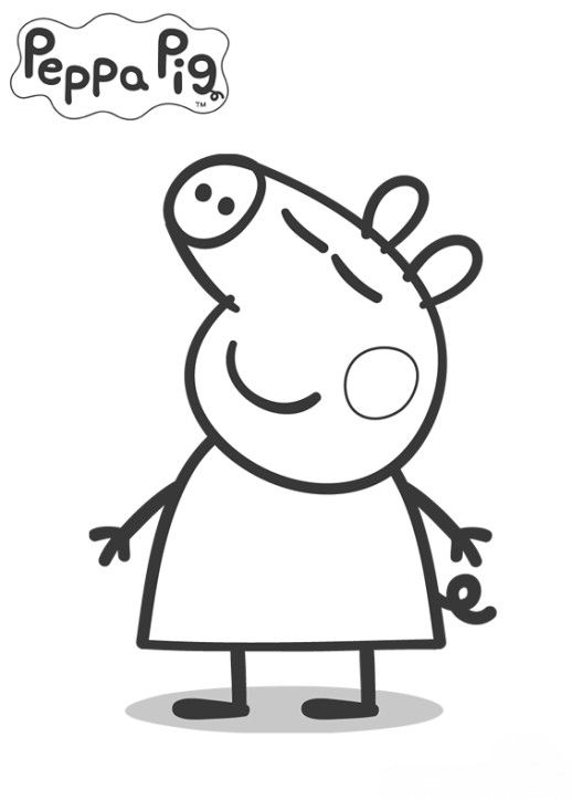 kids peppa pig coloring in pages - Colouring In Sheets For Kids