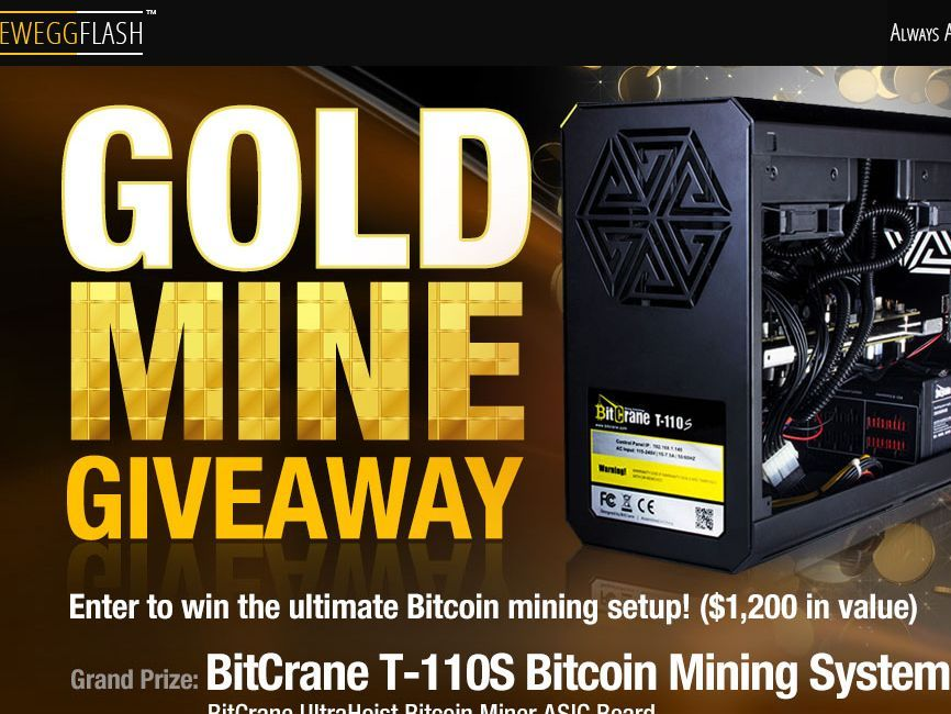 Enter the neweggflash goldmine giveaway sweepstakes for a chance enter the neweggflash goldmine giveaway sweepstakes for a chance to win a bitcrane ultra silent bitcoin malvernweather